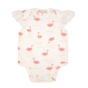 Wendy Onesie with Eyelet Sleeves - Flarda Flamingo