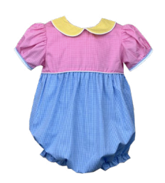 Treasure the Moments Girl Charleston Bubble (Blue, Pink & Yellow)