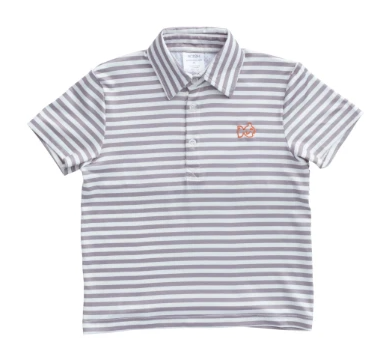 Game Performance Polo - Grey with Orange Fish