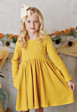 MARIGOLD RIBBED BALLET DRESS