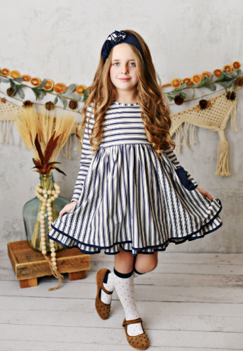 RALEIGH DAINTY STRIPE POCKET DRESS