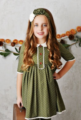 CHARLOTTE PETAL DOTTIE DRESS SIZE