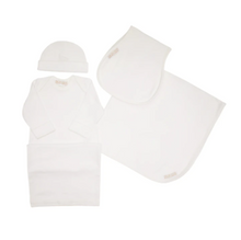 Darling Debut Gift Set (w/snaps) - White with Palmetto Pearl
