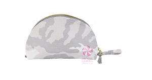 Snow Camo Seersucker Large Taco Bag