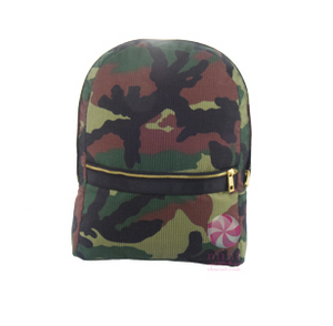 Woodland Seersucker Medium Backpack