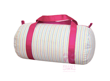 Rainbow Seersucker Medium Duffel