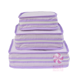 Lilac Seersucker Stacking Set
