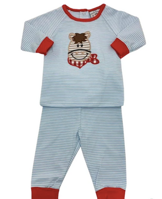 Horse Boys Applique 2 Piece Set
