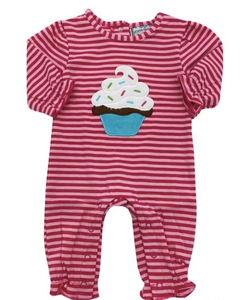 Cupcake Girls Applique Romper