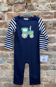 Tractor Ride Boys Applique Romper