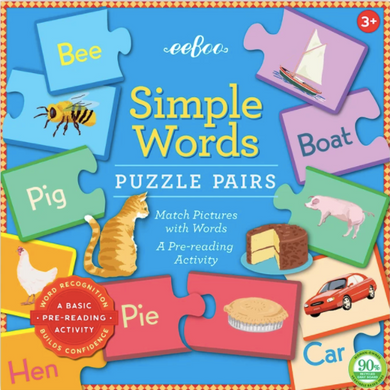 Simple Word Puzzle Pairs