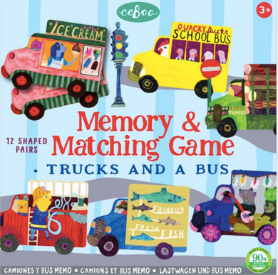 Trucks and a Bus Shaped Matching Game