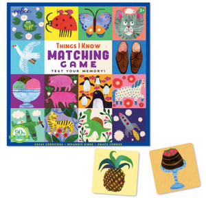 Things I Know Memory Matching Game