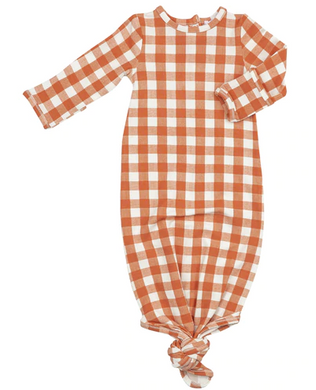 Gingham Pumpkin Knotted Gown