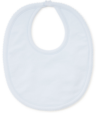 Kissy Basic Bib - Light Blue with Blue