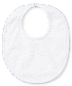 New Kissy Dots Print Bibs (White, Blue or Pink)