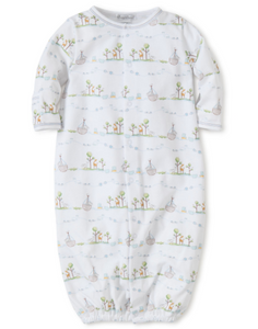 Noah's Print Converter Gown - Light Blue