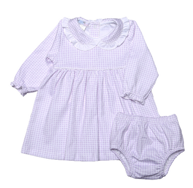 OLIVIA PINK GINGHAM DRESS WITH DIAPER COVER