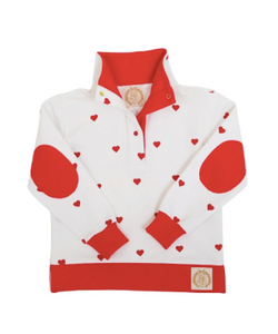 Pendleton Popped Collar - French Terry (Heart Eyes with Richmond Red)