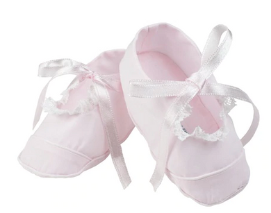 Girls Mary Jane Lace Booties - Pink