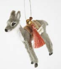 Winter Fur Deer Ornament