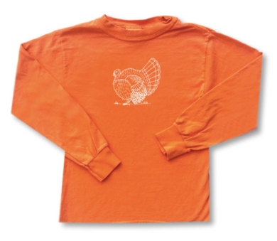 Turkey Orange Long Sleeve Tee - Orange