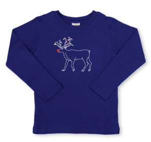 Reindeer Long Sleeve Tee - Royal