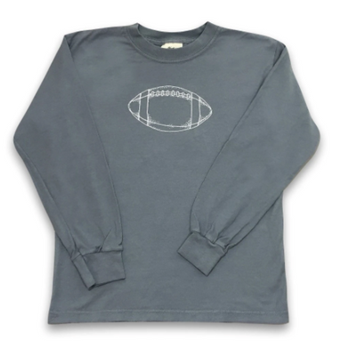 Football Long Sleeve Tee - Charcoal
