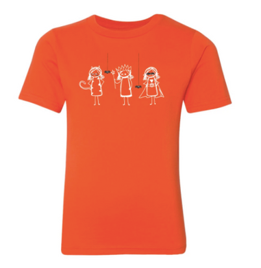 Girly Trick or Treat Short Sleeve Tee - Orange