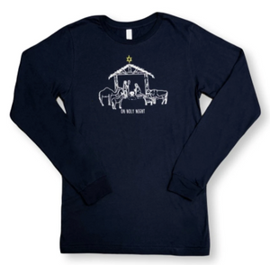 Nativity Long Sleeve Tee - Navy