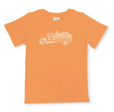Pumpkin Truck Short Sleeve Tee - Orange