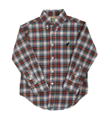 Deans List Dress Shirt - Tillingham Tartan/Nantucket Navy