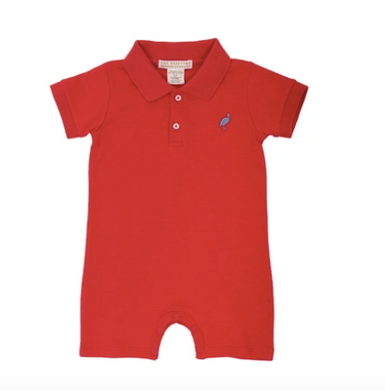 Sir Propers Romper - Richmond Red/Park CIty Perwinkle