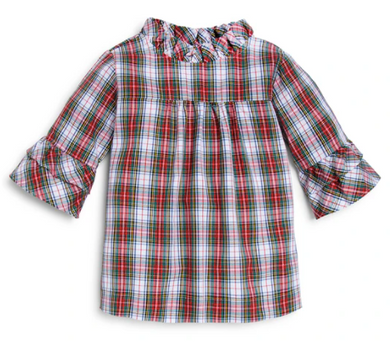 Holiday Jean Blouse - Holiday Plaid