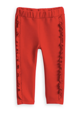 Lambsey Cozy Leggings - Red French Terry
