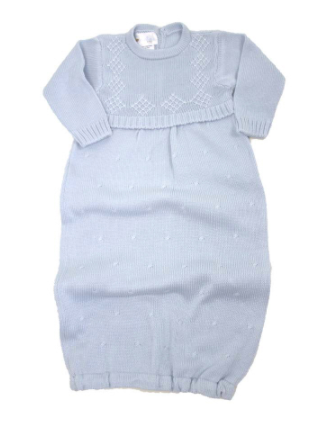Argyle Gown - Light Blue