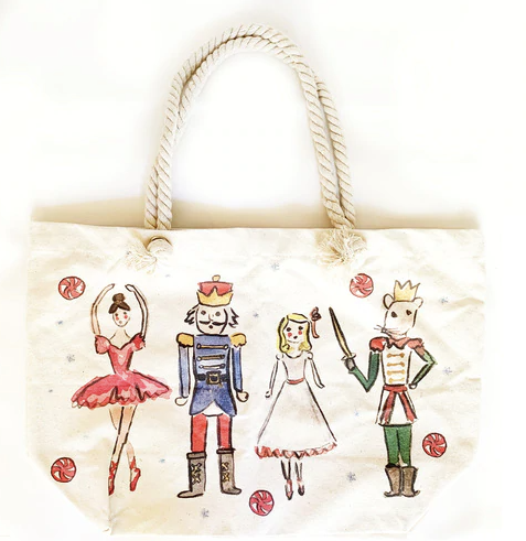 Nutcracker Printed Canvas Tote