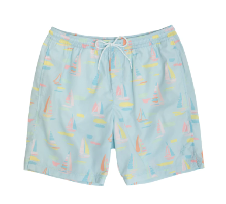 Toddy Swim Trunks - Sandyport Sailboats Blue