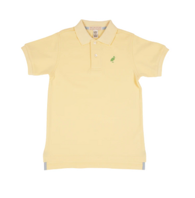 Prim & Proper Polo - Bellport Butter Yellow/Grenada Green