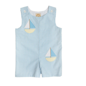 Jack Keene Jon Jon Sailboat - Brookline Blue Windowpane