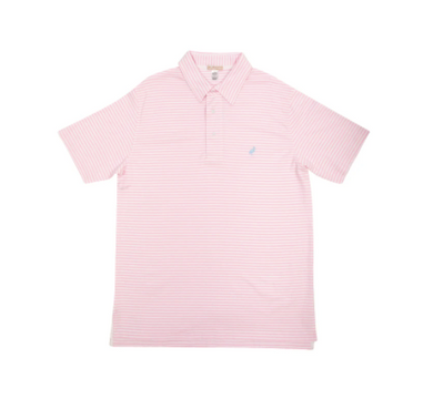 Croquet Party Polo - Palm Beach Pink Stripe/Buckhead Blue