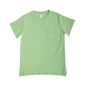 Carter Crewneck - Mandeville Mint/Palm Beach Pink