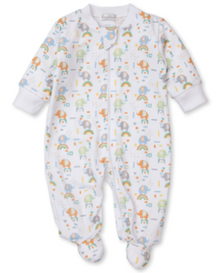 Rainbow Elephant Footie w/ Zip