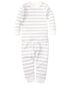 Kissy Kissy Broad Strip Pajama Set - Light Blue