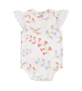 Wendy Onesie with Eyelet Sleeves - Harbour Island Hummingbird
