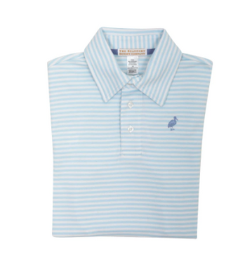 Prim and Proper Polo - Buckhead Blue Micro Stripe/PCP