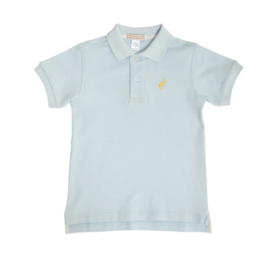 Prim and Proper Polo - Buckhead Blue/Bellport Butter Yellow