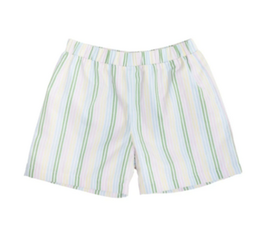 Shelton Broadcloth Shorts - Rainbow Row Stripe/Buckhead Blue