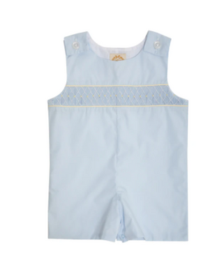 Snyders Smocked Jon Jon - Buckhead Blue/Worth Avenue White