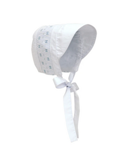 Sweetly Smocked Bonnet - Pink or Blue